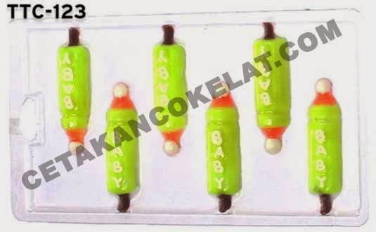Cetakan coklat TTC123 Baby Bottle Botol Bayi