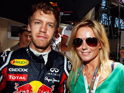 Джерри Холливел и Себастьян Феттель перед гонкой Гран-при Монако 2011