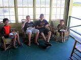 Kai, Matthew, Robbie, and Eidan, at Eidan's birthday party