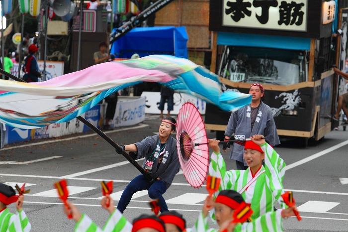 第59回よさこい祭り☆本祭2日目・追手筋本部競演場46☆上2目0763
