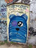 Sad blue bear