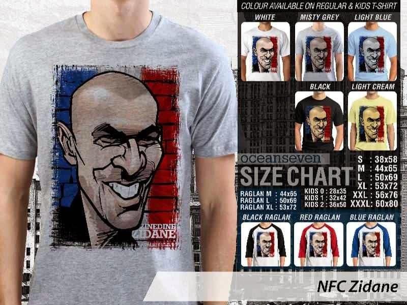 KAOS Zinedine Zidane Kartun Bola distro ocean seven