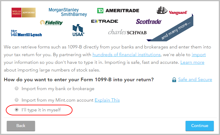Reporting stock options in turbotax