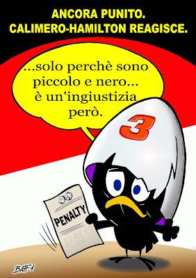 Льюис Хэмилтон получает очередное наказание от FIA после Гран-при Монако 2011 комикс Baffi