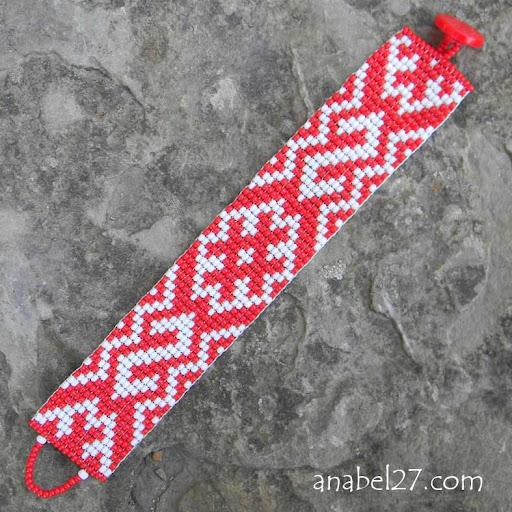 купить браслет из бисера украина славянский узор