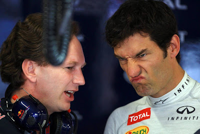 Кристиан Хорнер и Марк Уэббер на Гран-при Европы 2012