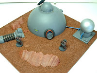 Remote colony habitat dome and reactor Military Science Fiction war game terrain and scenery