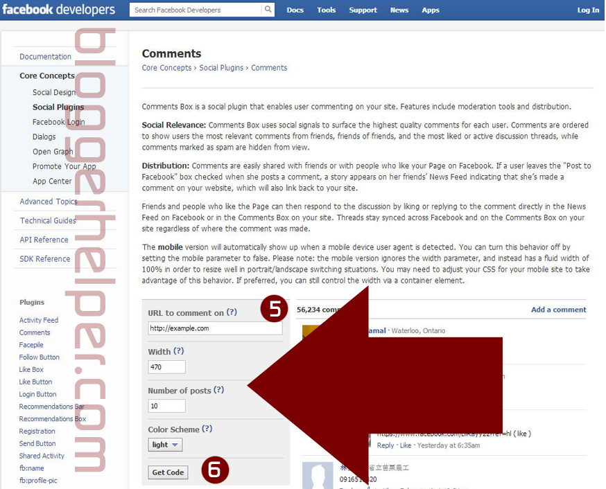 facebook social plugins comment, tutorial memasang facebook comment dalam blogger