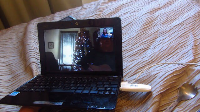 Ringing in New Years for a second time via Skype - we were a full 15hrs ahead in Sydney!