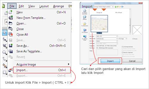 import gambar pada coreldraw