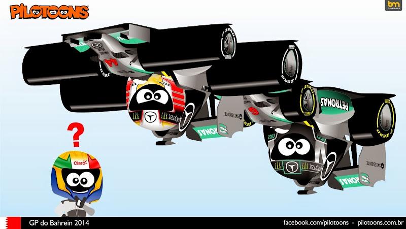 Эстебан Гутьеррес в другом измерении - комикс pilotoons по Гран-при Бахрейна 2014