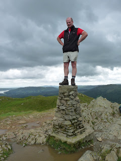 Richard the Conqueror on Loughrigg Fell Summit Trig Point