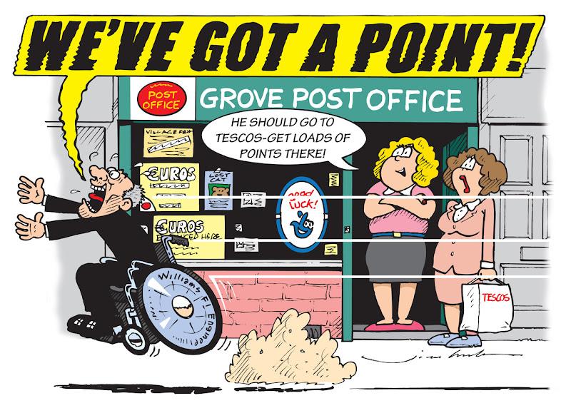 Фрэнк Уильямс радуется одному очку на Гран-при Венгрии 2013 - комикс Jim Bamber