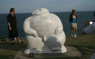 A penis, Sculpture by the Sea