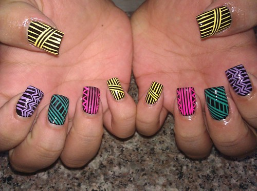 TRIBAL NAILS!!!