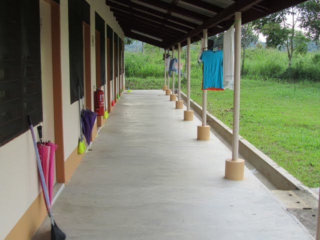 dormitories from outside, Vipassana course, Gambang