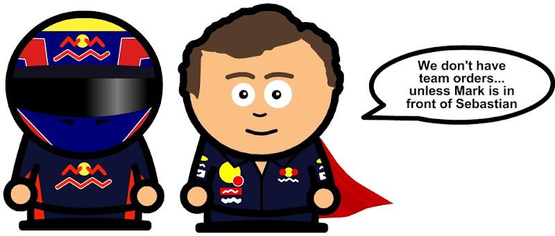 Кристиан Хорнер об особенностях командной тактики в Red Bull после Гран-при Великобритании 2011 комикс Unlap