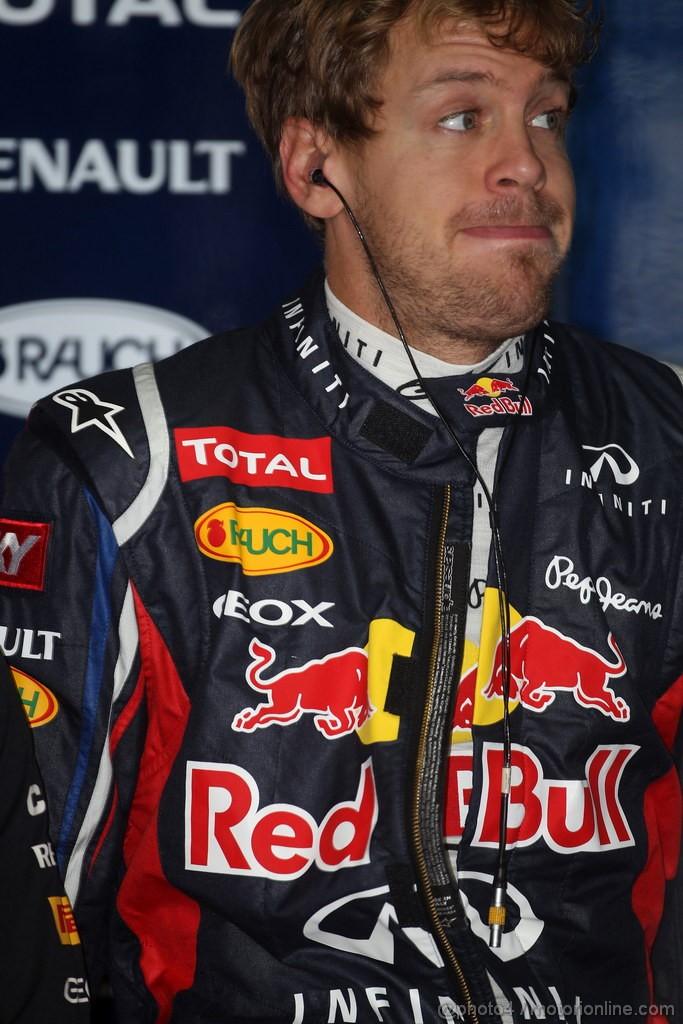 Себастьян Феттель на Гран-при Бразилии 2012