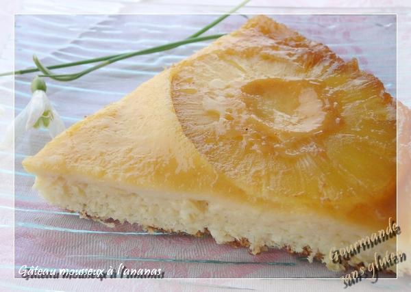 Gâteau mousseux à l'ananas sans gluten