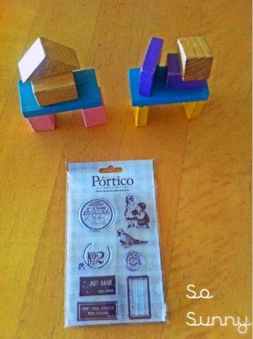 DIY stamp holders. Soporte para sellos