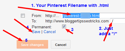 pinterest url redirection to homepage