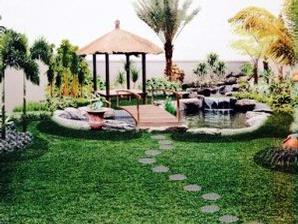 gambar taman rumah kita