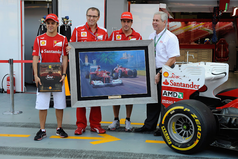 500 гонок Ferrari и Shell на Гран-при Сингапура 2012