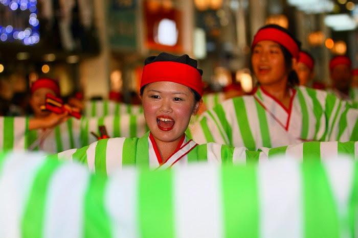第59回よさこい祭り☆本祭2日目・帯屋町筋演舞場60☆上2目0873