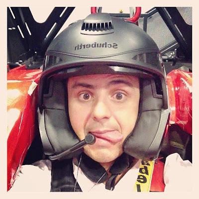 Фелипе Масса работает на симуляторе Ferrari - февраль 2013