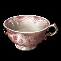Tazza da tè rosa