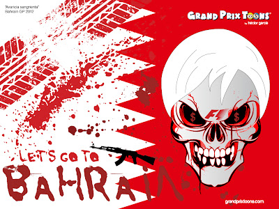 Берни Экклстоун зовет на Гран-при Бахрейна 2012 - комикс Grand Prix Toons