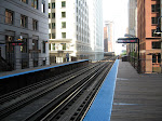 Another El station, this one in the Chicago loop area