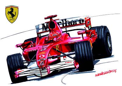 рисунок болида Михаэля Шумахера Ferrari 248 F1 (2006) by matsushita