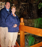 Dad and Mom by the Waterfall at the Marriott - Quito