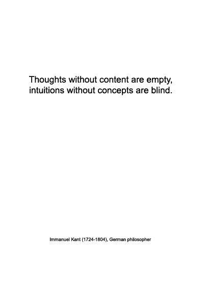 Immanuel Kant on thoughts, intuitions and concepts | Warmenhoven & Venderbos Blog