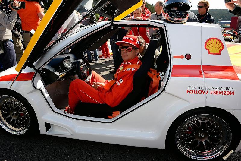 Кими Райкконен на Эко-Марафоне Shell на Гран-при Бельгии 2014