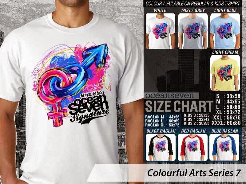 KAOS keren Colourful Arts Series 7 Cowok Cewek Gender | KAOS Colourful Arts Series 7 distro ocean seven