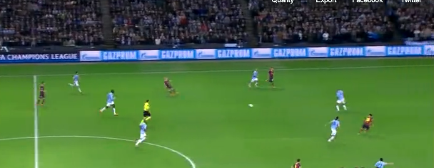 Screen+Shot+2014 02 18+at+23.29.12 Forget Demichelis! Barcelonas opening goal at Man City was all about that Andres Iniesta pass!