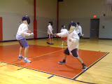 Meredith and Jack both took fencing this year.