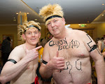 Rodney Gorman and John McDonnell going topless