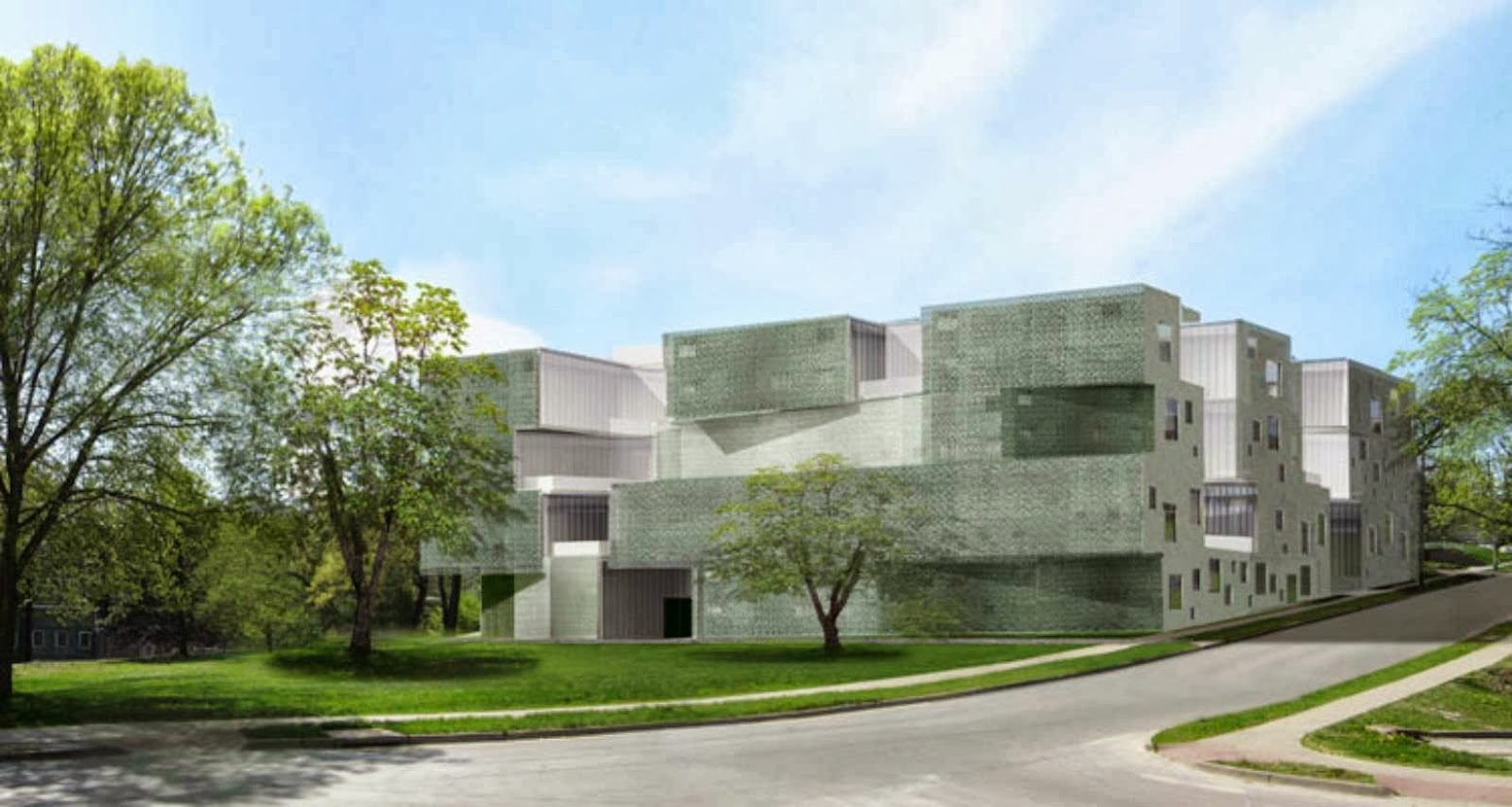 Iowa City, Iowa, Stati Uniti: [VISUAL ARTS BUILDING BY STEVEN HOLL]