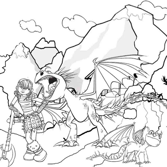 Free Printable Dragon Coloring Pages For Kids - dragon coloring pages for kids