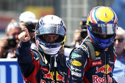 Себастьян Феттель и Марк Уэббер на Гран-при Европы 2011