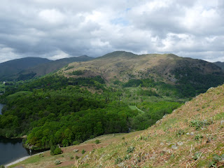 Nab Scar from the ascent of Loughrigg Fell