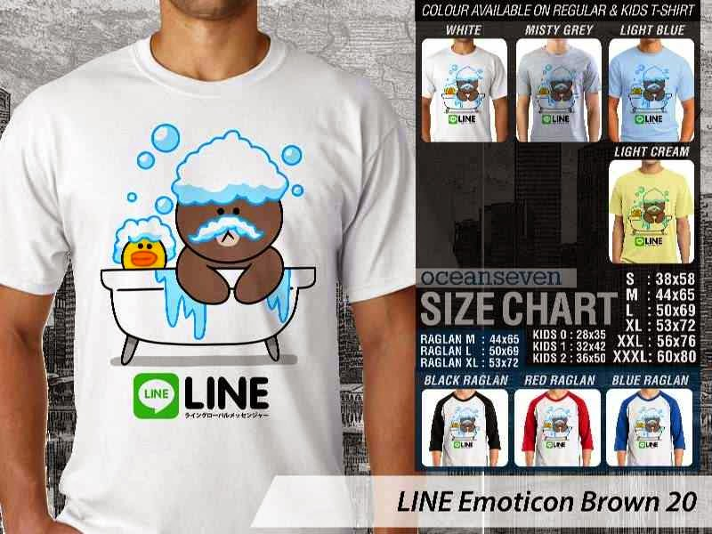 KAOS IT LINE Emoticon Brown 20 Social Media Chating distro ocean seven