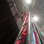 Come on craig....slide down the pole, the stairs are boring