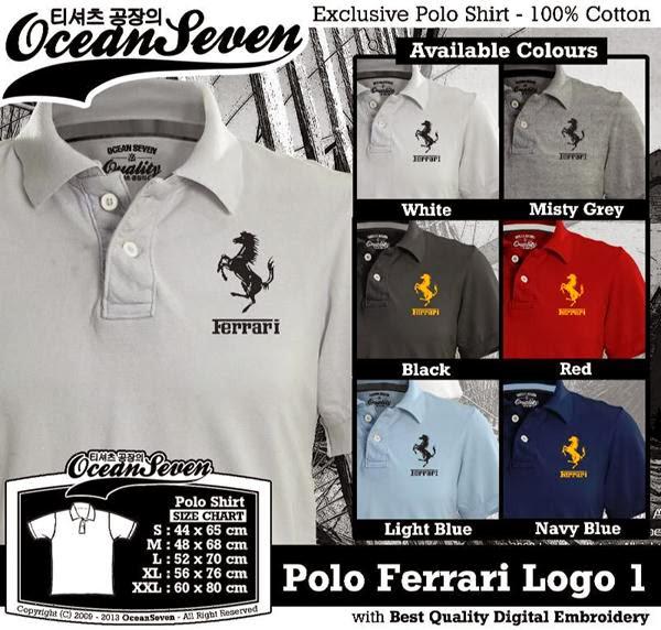 POLO Ferrari 1 Logo distro ocean seven