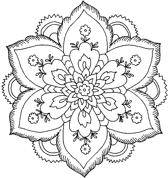 Printable Coloring Pages For Adults Walloid - free coloring pages to print for adults