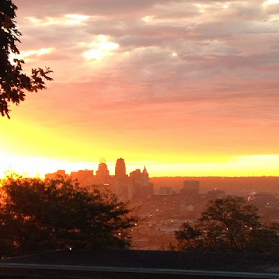 Cincinnati sunrise skyline