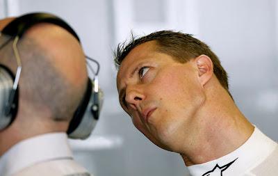 Михаэль Шумахер на Гран-при Абу-Даби 2011